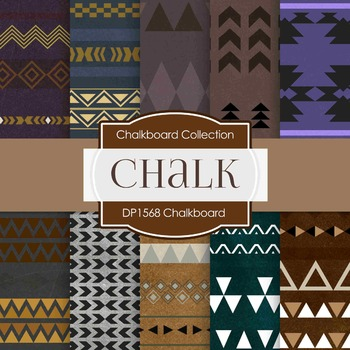 Digital Papers -  Chalkboard Tribal (DP1568)