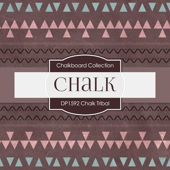 Digital Papers -  Chalkboard Tribal (DP1592)
