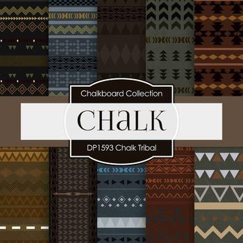 Digital Papers -  Chalkboard Tribal (DP1593)