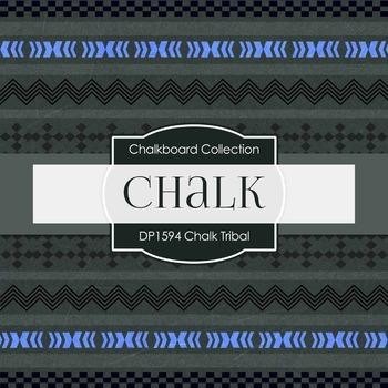 Digital Papers -  Chalkboard Tribal (DP1594)