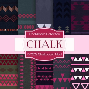Digital Papers - Chalkboard Tribal (DP2022)