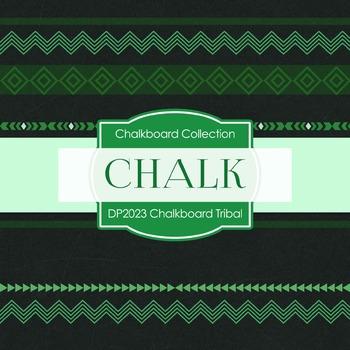 Digital Papers - Chalkboard Tribal (DP2023)