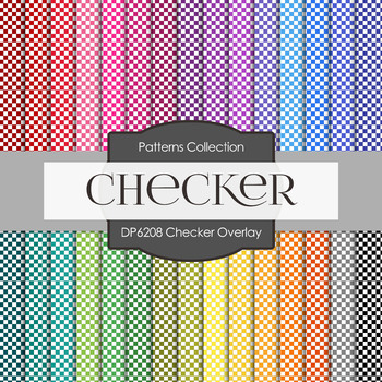 Digital Papers - Checker Overlay (DP6208)