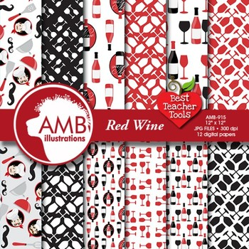 Kitchen and Chef Digital Papers and Backgrounds, {Best Teacher Tools} AMB-915