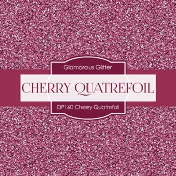 Digital Papers - Cherry Quatrefoil (DP160)