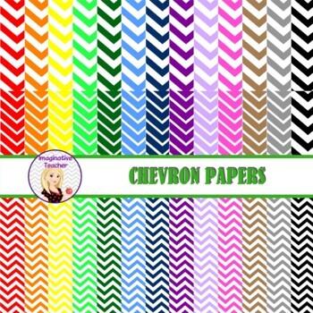 Digital Papers - Chevron Rainbow