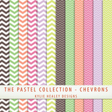 Digital Papers - Chevrons from the Pastel Collection