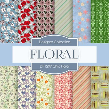 Digital Papers - Chic Floral (DP1299)