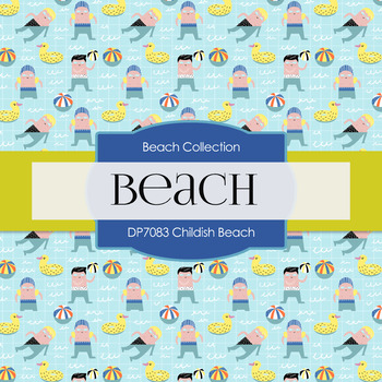 Digital Papers - Childish Beach (DP7083)