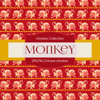 Digital Papers - Chinese Monkey (DP6796)