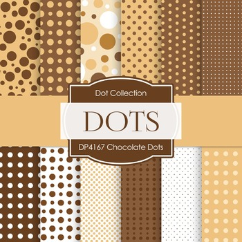 Digital Papers - Chocolate Dots (DP4167)