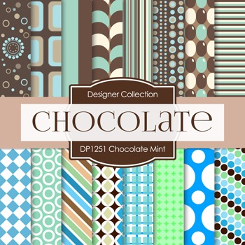 Digital Papers - Chocolate Mint (DP1251)