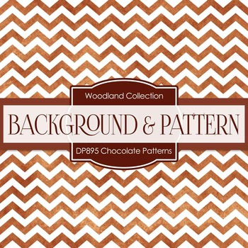 Digital Papers - Chocolate Patterns (DP895)