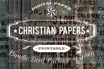 Digital Papers - Christian Patterns Bundle Deal