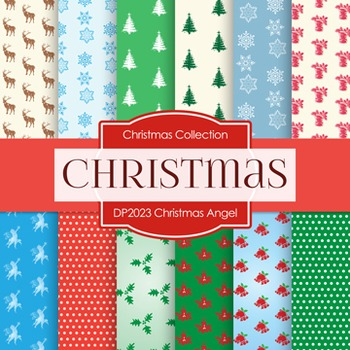 Digital Papers -  Christmas Angel (DP2023)