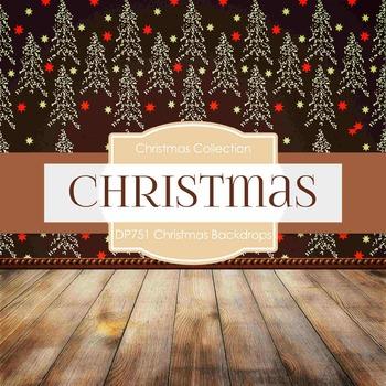 Digital Papers - Christmas Backdrops (DP751)