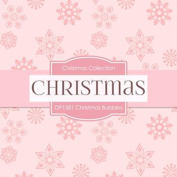 Digital Papers - Christmas Bubbles (DP1581)