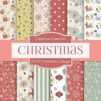 Digital Papers - Christmas College (DP1517)