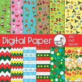Digital Papers: Christmas Digital Papers and Backgrounds
