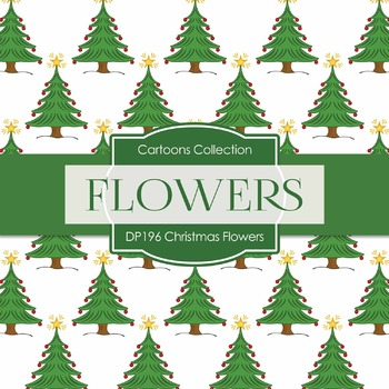 Digital Papers - Christmas Flowers (DP196)