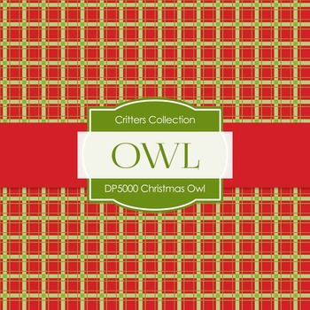 Digital Papers - Christmas Owl (DP5000)