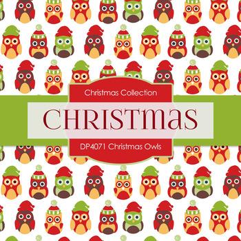 Digital Papers - Christmas Owls (DP4071)