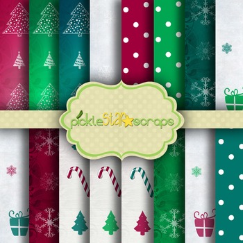 Digital Papers Christmas Patterns