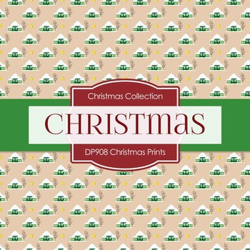 Digital Papers - Christmas Prints (DP908)
