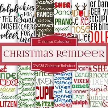 Digital Papers - Christmas Reindeer (DW035)