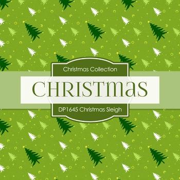 Digital Papers - Christmas Sleigh (DP1645)