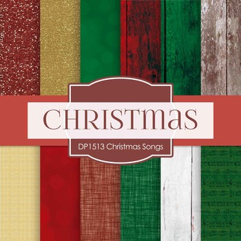 Digital Papers - Christmas Songs (DP1513)