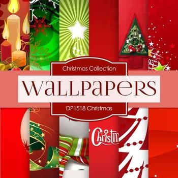Digital Papers - Christmas Wallpapers (DP1518)