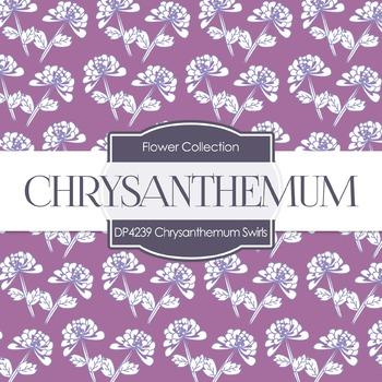Digital Papers - Chrysanthemum Swirls (DP4239)