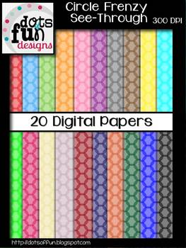 Digital Papers: Circle Frenzy See Through