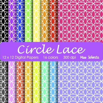 Digital Papers - Circle Lace