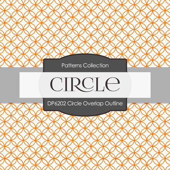 Digital Papers - Circle Overlap Outline (DP6202)