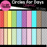 Digital Papers {Circles for Days} Clipart