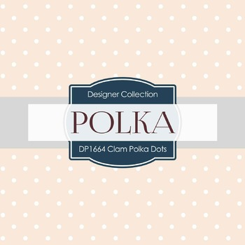 Digital Papers -  Clam Polka Dots (DP1664)