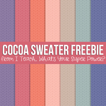 Digital Papers Cocoa Sweater Set