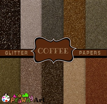 Digital Papers Coffee Color Glitter Pack