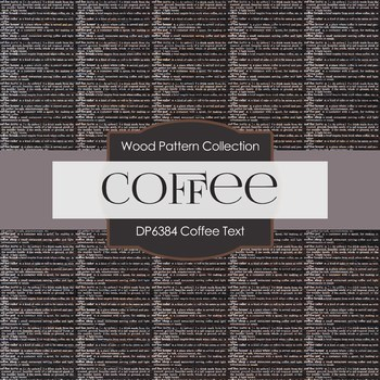Digital Papers - Coffee Text (DP6384)