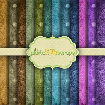 Digital Papers Color Patterns 1
