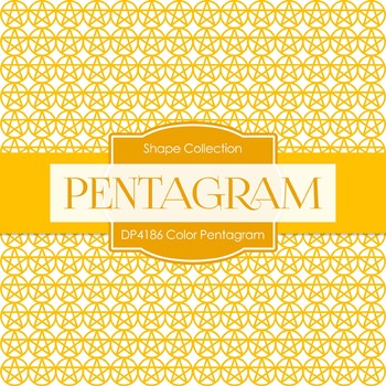 Digital Papers - Color Pentagram (DP4186)
