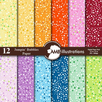 Digital Papers - Colorful Bubbles digital paper and backgrounds, AMB-849