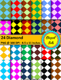Digital Papers - Colorful Diamond Shape
