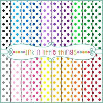 Digital Papers - Colorful Dots Backgrounds