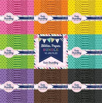 Digital Papers - Colorful Glitter Bundle