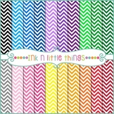 Digital Papers - Colorful Mini Chevron Backgrounds