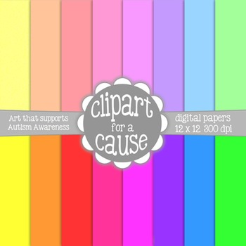 Digital Papers: FREE Colorful Solids Scrapbook Paper - 16 pc - 12x12