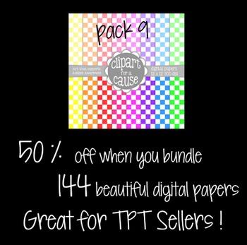 Digital Papers: Colors & White Value Bundle Scrapbook Paper - 144 pc -12x12